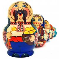 Матрешка 5 кук. Украинская семья (15см), фото 1