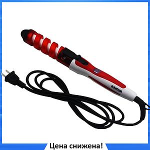 Плойка спиральная для волос NOVA NHC-5311 Красная