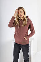 Женский однотонный свитшот с капюшоном, фото 1