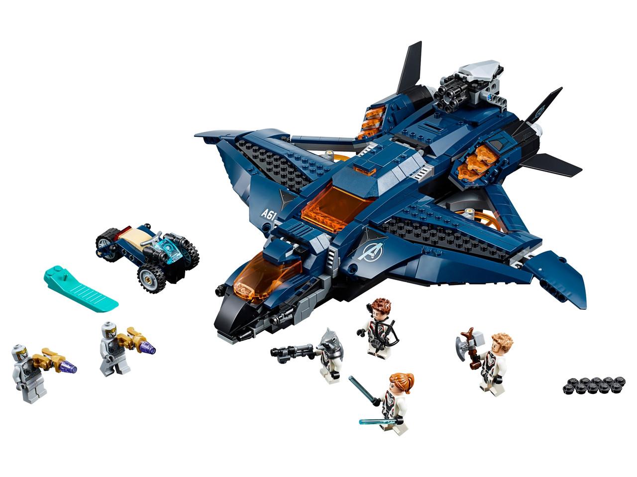 Конструктор LEGO Модернизированный квинджет Мстителей 838 деталей (76126)