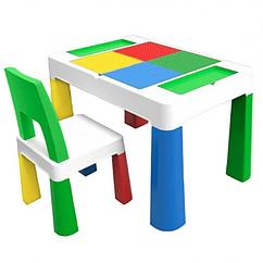 """Дитячий функціональний столик POPPET """"Колор Грін 5 в 1"""" і стільчик"""