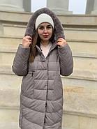 Длинный пуховик пальто  Hailuozi 620-X2, фото 2