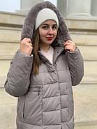 Длинный пуховик пальто  Hailuozi 620-X2, фото 3