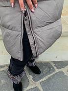 Длинный пуховик пальто  Hailuozi 620-X2, фото 5