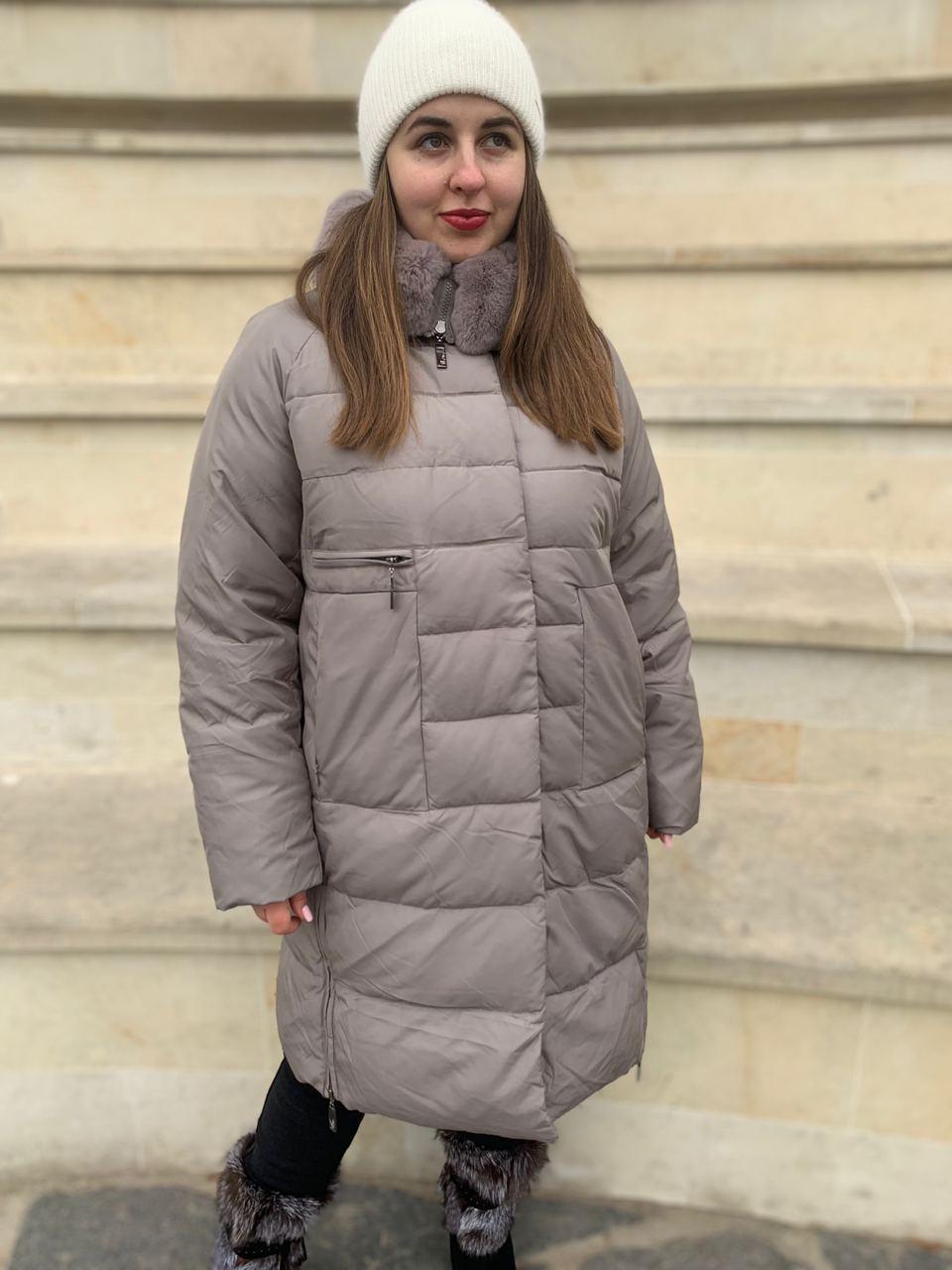Длинный пуховик пальто  Hailuozi 620-X2