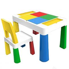 """Дитячий функціональний столик POPPET """"Колор Єллоу 5 в 1"""" і стільчик"""