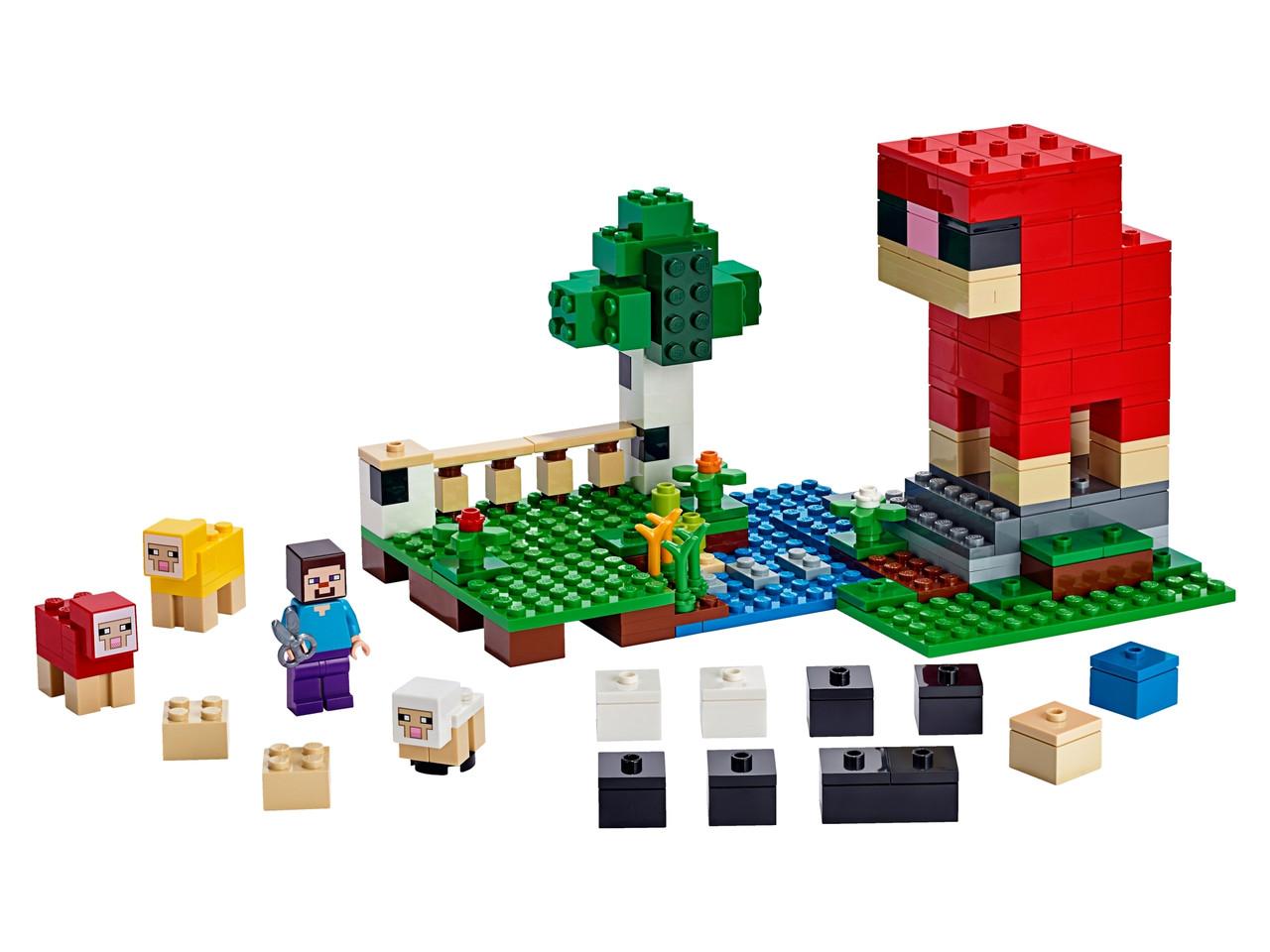 Конструктор LEGO ферма вовни 260 деталей (21153)