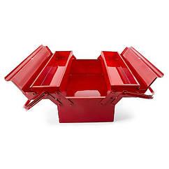 Ящик для инструментов металлический 3 секции 450 мм INTERTOOL (HT-5043)