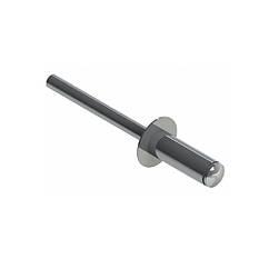 RF-Заклепка окрашенная с плоской головкой 4,0х8 RAL7024 Al/St cерая /2,5-4 ISO METALVIS
