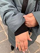Длинный пуховик пальто Hailuozi 663-С7, фото 5
