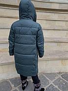 Длинный пуховик пальто Hailuozi 663-С7, фото 4