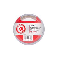 Скотч алюминиевый термостойкий 50 мм * 10 м INTERTOOL KT-0991