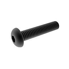 Винт Полукруглая(Головка)с Внутренним Шестигранником М3 * 12 мм/100 шт 10.9 БП ISO7380-1