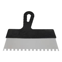 Шпатель из нержавеющей стали 350 мм с зубом 6 * 6 мм INTERTOOL KT-2356