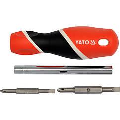 Отвертка с двумя двустороннего насадками YATO YT-25971