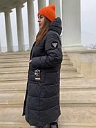 Довгий пуховик пальто Hailuozi 657-D1, фото 4