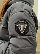 Довгий пуховик пальто Hailuozi 657-D1, фото 6