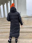 Довгий пуховик пальто Hailuozi 657-D1, фото 3