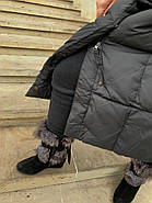 Довгий пуховик пальто Hailuozi 657-D1, фото 7