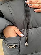 Довгий пуховик пальто Hailuozi 657-D1, фото 8