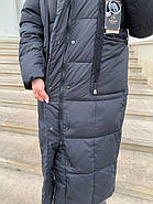 Длинный пуховик пальто Hailuozi 657-D1, фото 5