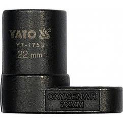 Ключ(Знімач)Головка 22 мм Для Зняття(Лямбда-Зонда)Датчика Кисню YATO YT-1753