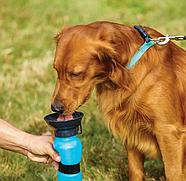 Поїлка Aqua Dog (Аква Дог) для собак тварин прогулянкова 500мл, портативна з чашею (KG-554), фото 4