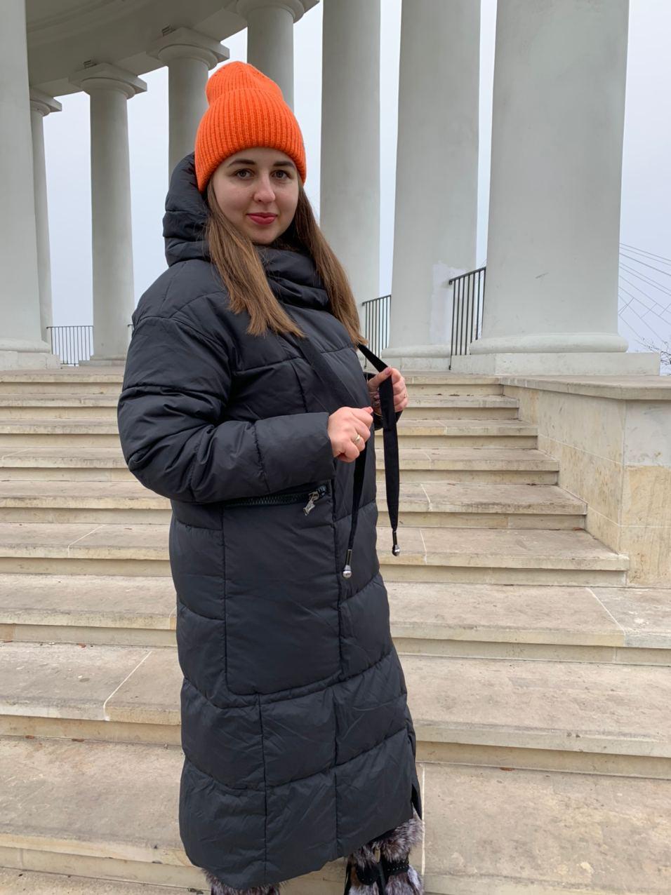Длинный пуховик пальто Hailuozi 657-D1