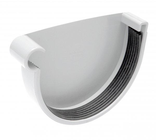 Заглушка жолоба Profil Д=90мм ЛІВА, колір білий