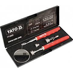 Комплект Для Инспекции Телескопический(Зеркало + Держатель Магнитный)YATO YT-0662