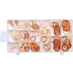 Шайбы(Медные)Кольца Уплотнительные Набор(Комплект)150шт YATO YT-06871