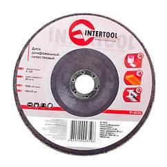Диск шлифовальный лепестковые 180х22мм INTERTOOL BT-0235