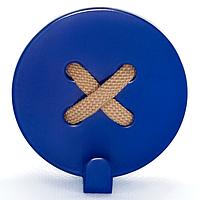 Вешалка настенная Крючок Glozis Button Blue H-027 8 х 8 см, КОД: 241740