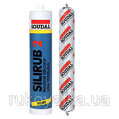 Герметик нейтральный силикон серый SILIRUB 600 мл SOUDAL (000020000000031603)