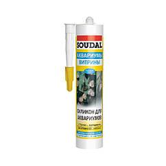 Клей-герметик силиконовый для аквариумов SILIRUB AQ 310мл черный SOUDAL (000020000000063002)