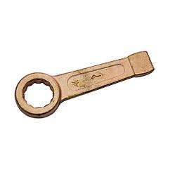 Ключ гаечный кольцевой ударный омедненный х27 КЗСМИ КГКУ-Мх27