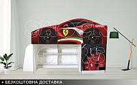 Кровать чердак Феррари red 2050х1290х836, фото 1