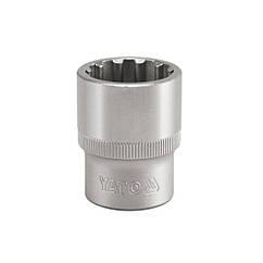 """Головка Торцевая Сплайн (Spline) 1/2"""" M=08 мм L=38 мм YATO YT-1460"""