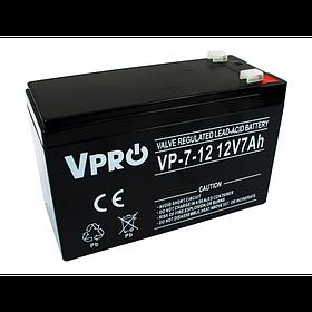Аккумулятор Volt Polska VPRO 7 Ah 12V AGM VRLA черный (6AKUAGM007)
