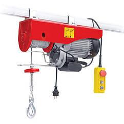 Тельфер(Лебедка)Электрическая 900Вт/500кг Тросовая(Канатная)4,2мм/12м INTERTOOL GT1482