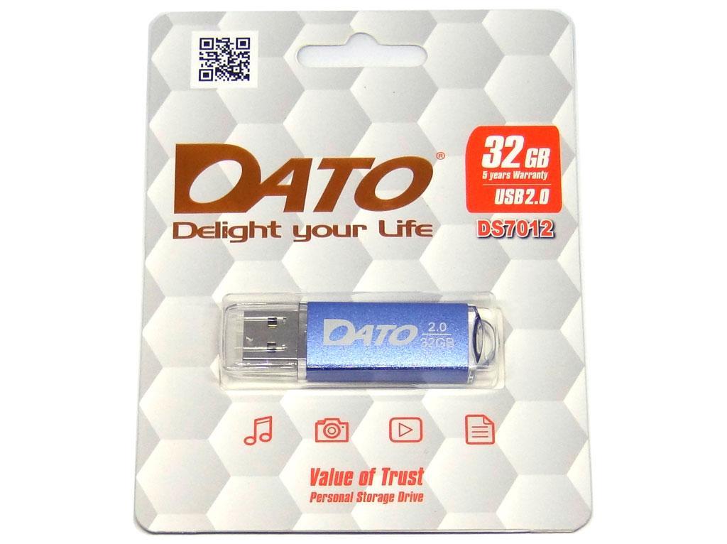 USB флеш накопичувач Dato 32GB DS7012 blue USB 2.0 (DS7012BL-32G)