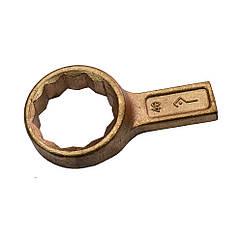 Ключ гаечный накидной односторонний омедненный х41 КЗСМИ КГНО-Мх41