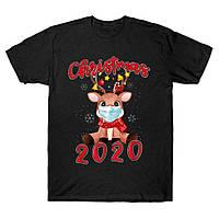 """Футболка з новорічним принтом """"Різдво в масці 2020"""" Push IT"""