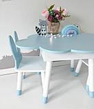 Детский стол облако с пеналом и 2 стула зайки, фото 2