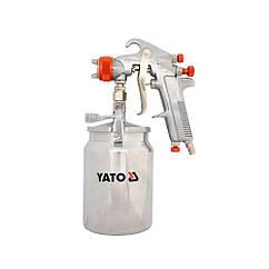 Краскопульт(Пневматический)Краскораспылитель 1.8мм/1000мл(YATO)YT-2346