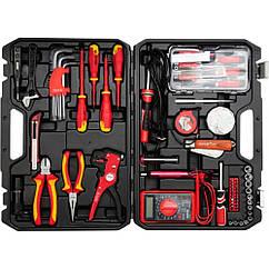 Набор Инструментов Для Электрика Диэлектрические(Изолированные)1000В - 68 шт YATO YT-39009