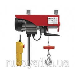 Тельфер(Лебедка)Электрическая 550Вт/300кг Тросовая(Канатная)3,5мм/11м YATO YT-5902