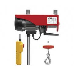 Тельфер(Лебедка)Электрическая 900Вт/500кг Тросовая(Канатная)4,2мм/11м YATO YT-5904