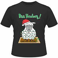 """Футболка з новорічним принтом """"Baa Humbug"""" Push IT"""