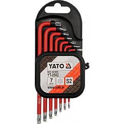 Набор Ключей Torx с отверстием 7 шт 1000В Т9-Т30 YATO YT-0562